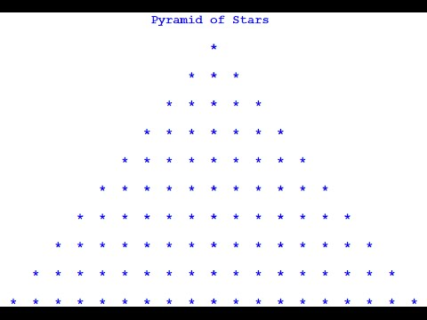 How to Create Pyramid of Stars in Python with Nested For Loop