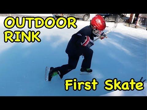 Kids HocKey Outdoor Rink ODR FIRST SKATE