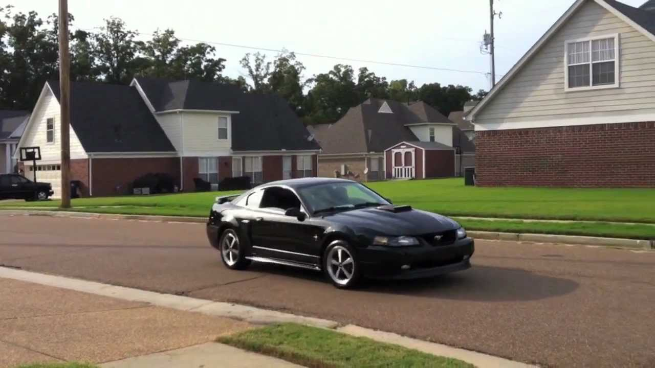 2003 Black Mustang Mach 1 Bassani Stainless O R X Pipe