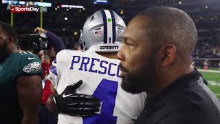 Watch Dak Prescott shake hands with Philadelphia Eagles QB Carson Wentz
