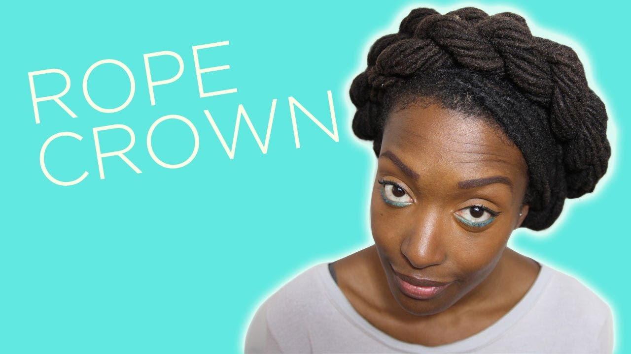 loc hairstyle tutorial rope crown