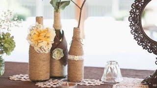 Украшение бутылки вина лентами всего за 5 минут.