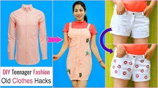DIY Teenagers Fashion Hacks - Recycle OLD Clothes .. | #Styling #College #Budget #Anaysa #DIYQueen