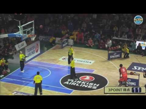 Patrick Sanders breaks 3pt contest record 24 out of 25 shots 2016 Japan Basketball
