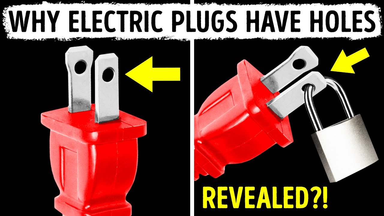 That's What Holes in Electric Plugs Are For
