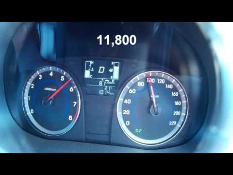 Hyundai Accent 2015 1.4 MPI acceleration 0 100 km h and 80 120 km h
