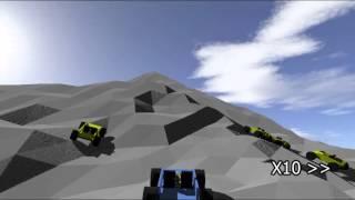 自然な感じの山を作って車で走った。 山の作り方の説明は二次元版にある。 https://www.youtube.com/watch?v=2P0H2dNwFGw ニコニコ動画版 ...