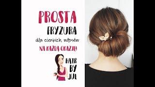Bardzo prosta fryzura dla cienkich włosów - na każdą okazję!