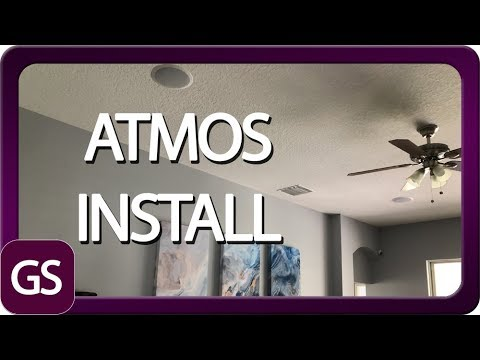 Installing ATMOS Ceiling Speakers And Setup