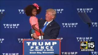 Donald Trump invites Green Bay, Wisconsin kids on stage - BEAUTIFUL