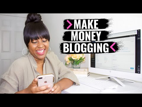 HOW TO MAKE MONEY BLOGGING 2020: Ways I ACTUALLY make money online!