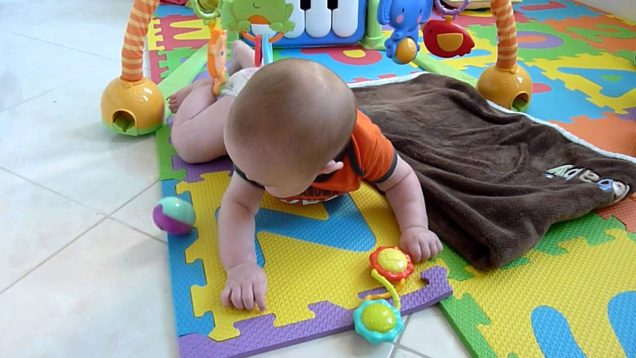 Genius Infant Baby Rolls Over When Mommy Tells Him W Help Of Toy