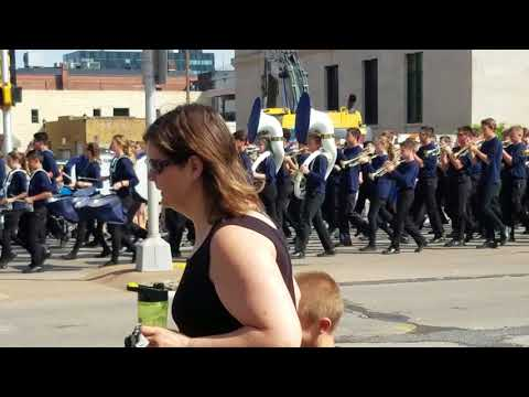 DeLong Middle School Marching Band Memorial Day 2018