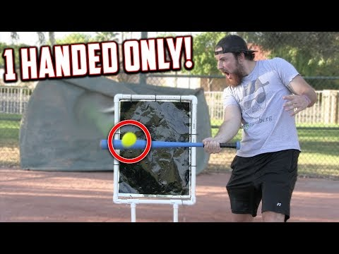 ONE HANDED SWINGS ONLY! Blitzball Wiffle Ball Game!