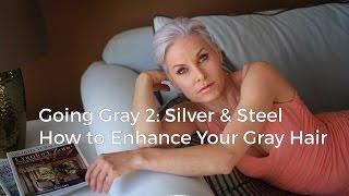 how to get SILVER or GRAY hair/ Как окрасить волосы в серый/ серебряный/ седой в домашних условиях
