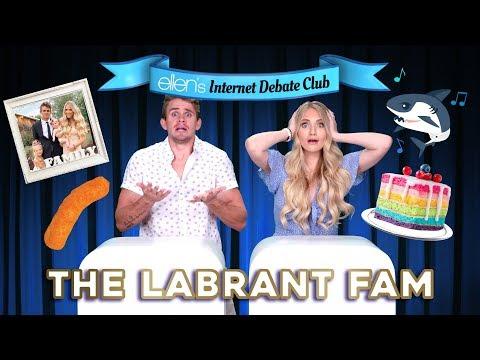 The LaBrant Fam Goes Head-to-Head in 'Ellen's Internet Debate Club'
