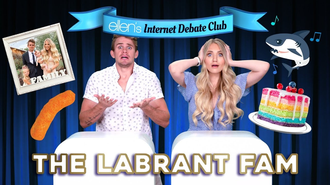 The LaBrant Fam Goes Head-to-Head in 'Ellen's Internet Debate Club'