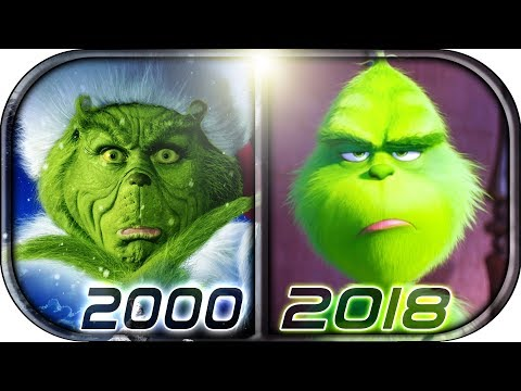 EVOLUTION of GRINCH in Movies Cartoons & TV 1966-2018 The Grinch  movie scene 2018 Christmas