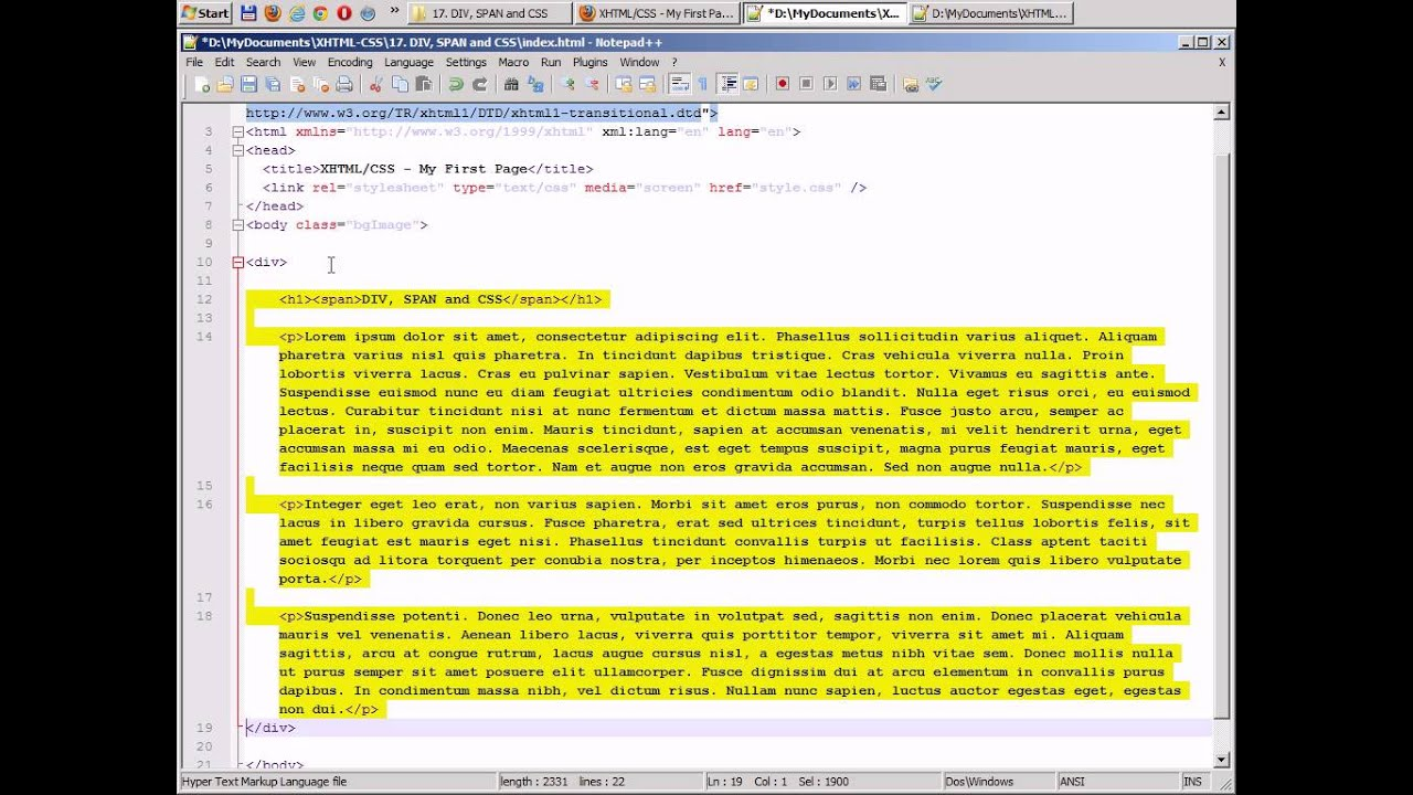 Div span and css 17 youtube - Html div span ...