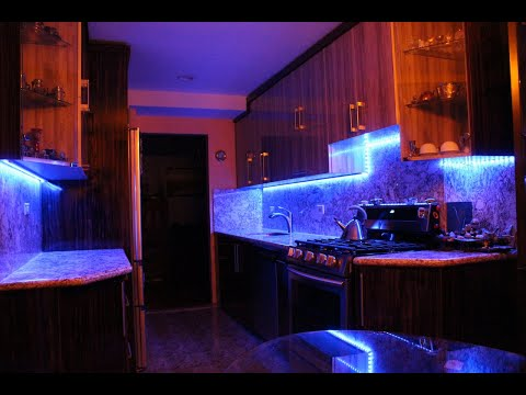 How To Install LED Strip Lights Under Kitchen Cabinets (Under Cabinet LED Lighting) DIY