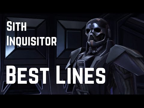 Best Sith Inquisitor Lines and Funny Moments   Star Wars: The Old Republic