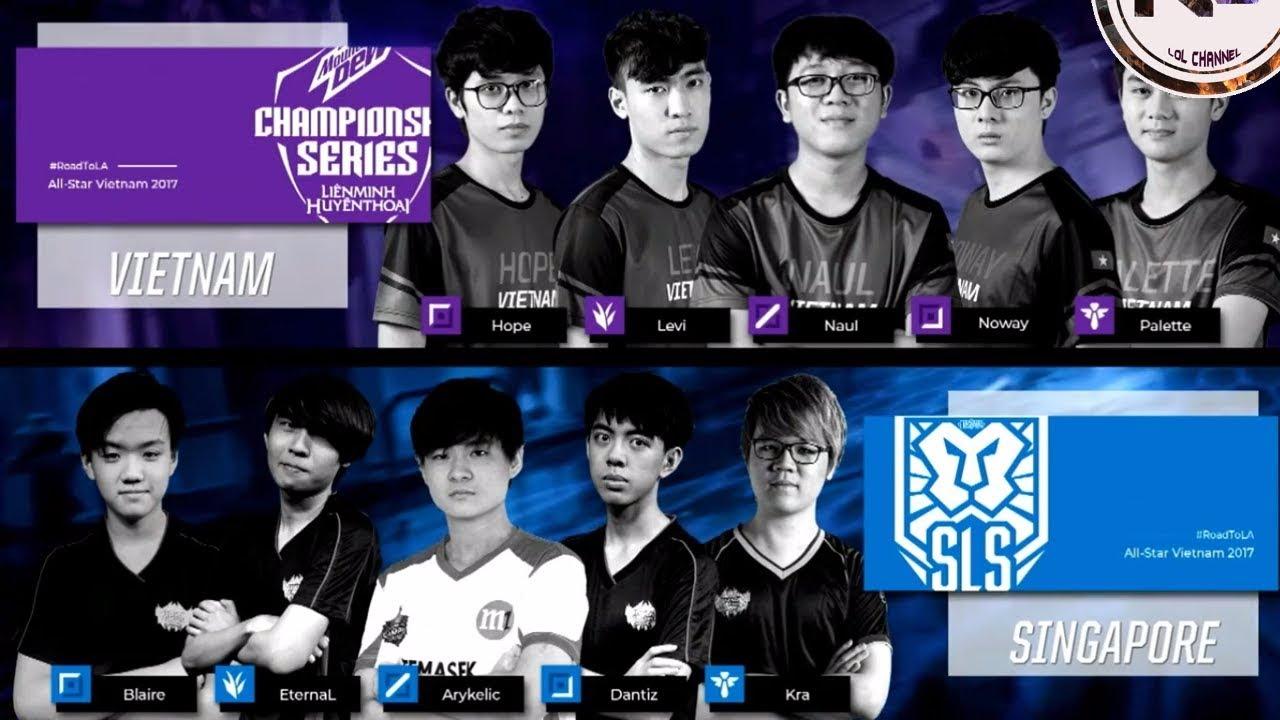 All-Star 23 11 2017 Viet Nam VCS vs Singapore SLS - Quá áp đảo cho Việt Nam