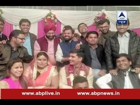 AAP MLA Sarita Singh gets engaged with Delhi minister Gopal Rais OSD Abhinav Rai