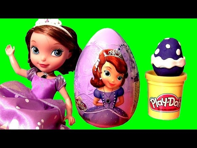 Giant Sofia the First Surprise Egg PLAY DOH Covered Easter Egg 😊 Kinder Huevo 2014 Disney Junior