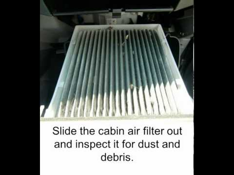 How to replace your cabin air filter toyota tacoma for Change cabin air filter
