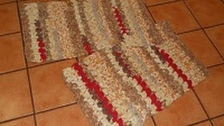 Crocheted Rag Rug Bumpy Country Road Part 1