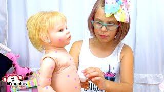 My Reborns! Adeline's Chickenpox! Reborn Babies Get Sick!