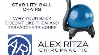 Should I Use A Stability Ball Chair At Work? | Dr Alex Ritza | Downtown Toronto Chiropractor