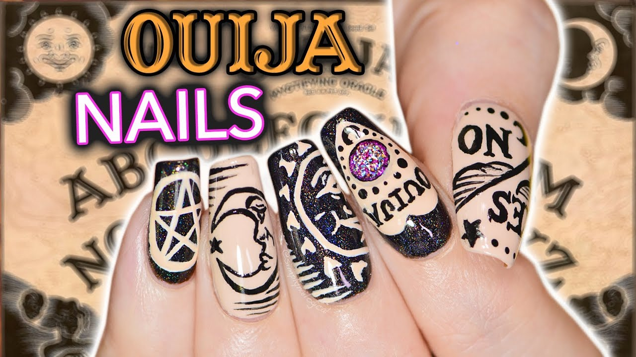 Diy Ouija Nail Art Not Clickbait Actual Emergency Simply Nailogical