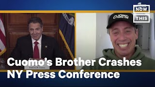 Chris Cuomo Calls Into Gov. Cuomo's Press Conference From Quarantine | NowThis