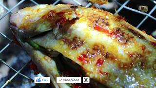 Best Recipes Roast Red Fish With Beautiful Girl Eating Delicious - Primitive Technology