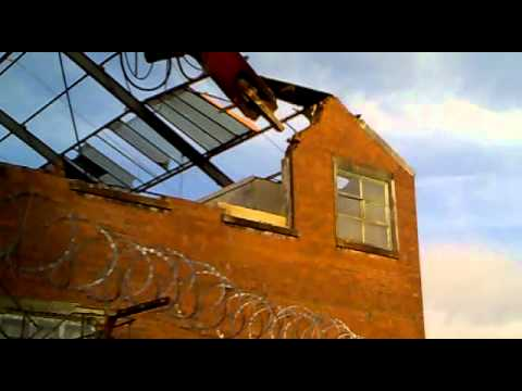 Mill demolition Burnley
