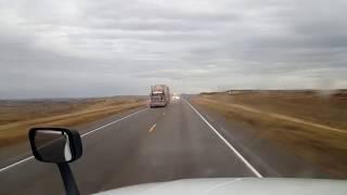 BigRigTravels LIVE! Broadus, Montana to Belle Fourche, South Dakota US 212 East-Nov. 2, 2018