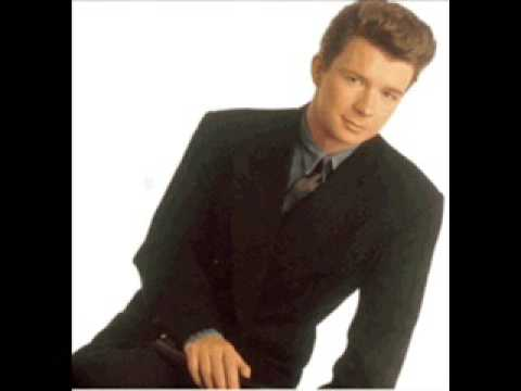 rick astleys - never gonna give you up very fast with lyrics