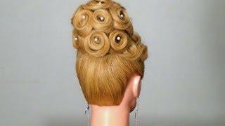 Вечерняя, свадебная прическа.  Wedding prom hairstyles for long hair.