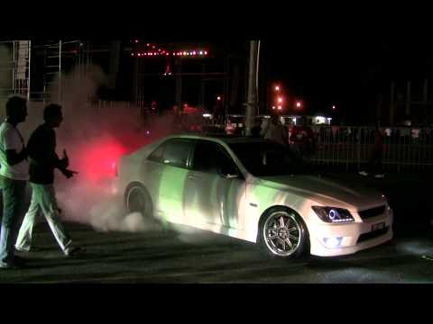 Toyota Altezza burnout at car show in Guyana