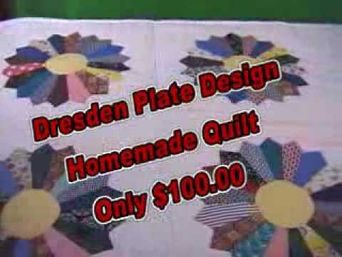 Dresden Plate Design Homemade Quilt denisoninvestment.com