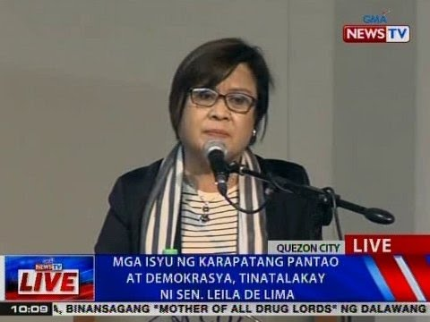 Watch: Issues of Human Rights and Democracy, Topic of Sen Leila De Lima