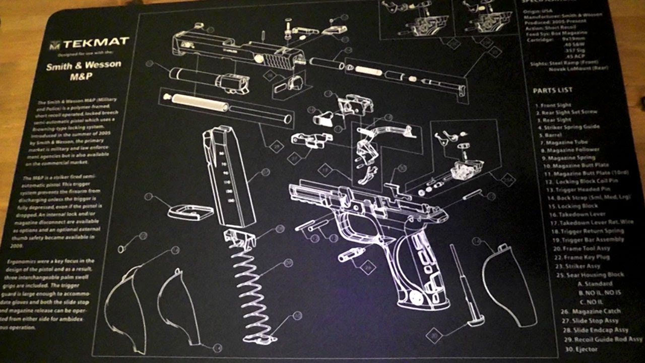 Tekmat Gun Cleaning Mats Youtube