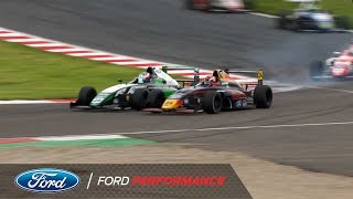 Donington Park Highlights | F4 British Championship | Ford Performance