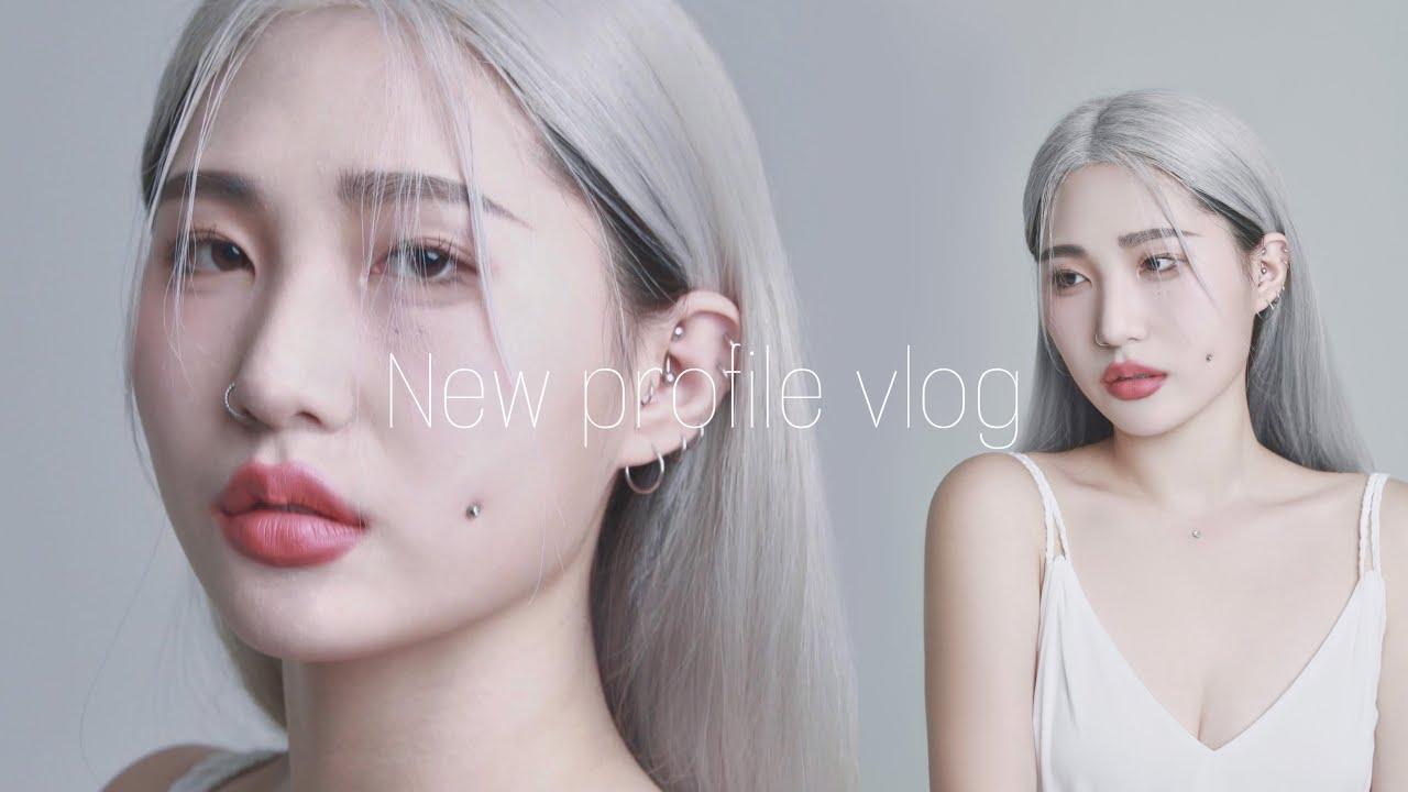 새로운 머리하고 프로필촬영했어요🤍 New hair + New profile🎥 [ vlog ]