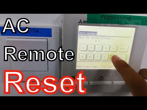 How to reset touch screen remote controller | Mitsubishi Heavy Industries Air Conditioner