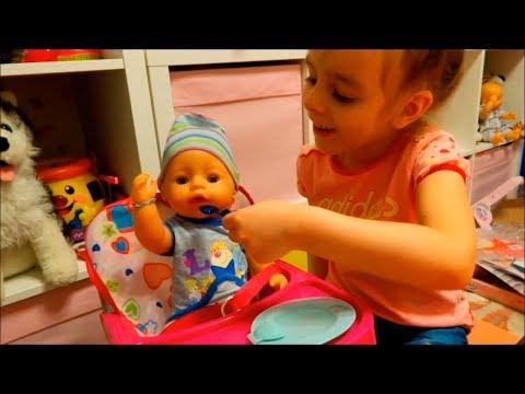 Распаковка КУКЛЫ БЕБИ БОН мальчика 10 аксессуаров для Baby Born за 10 минут челлендж Видео для детей