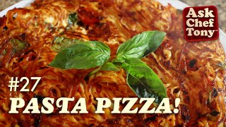 How To Make Spaghetti Pizza - Easy Frittata Made From Your Leftover Pasta!