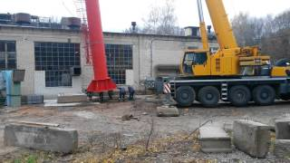 видео Аренда гусеничного крана 100 тонн Liebherr LTR 1100. 24/7 |7728485.ru