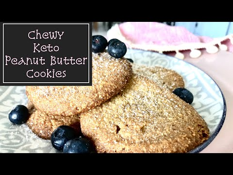 Low Carb Keto Chewy Peanut Butter Cookies